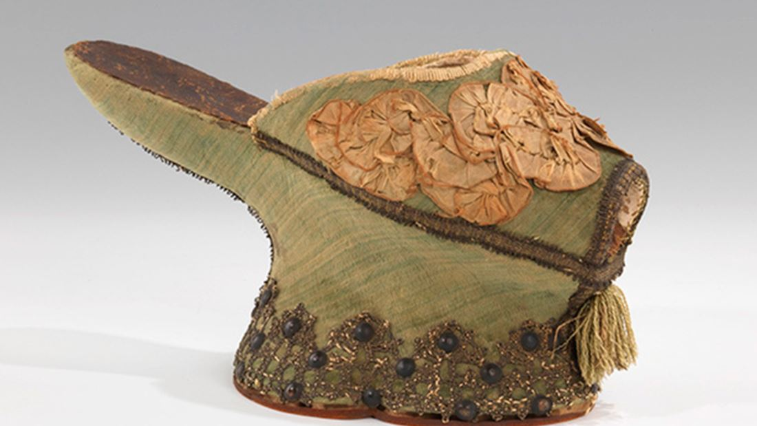 "© BROOKLYN MUSEUM, MELLON COSTUME DOCUMENTATION PROJECT, LEA INGOLD Y LOLLY KOON ZAPATILLAS ITALIANAS ""CHOPINE"" DE SEDA Y METAL, 1550-1650 APROX"